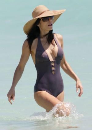 Bethenny Frankel in Swimsuit in Miami