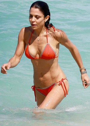 Bethenny Frankel in Red Bikini in Miami
