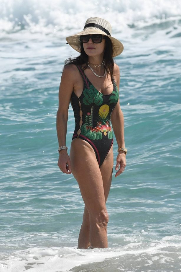 Bethenny Frankel - In a one piece swimsuit in Miami