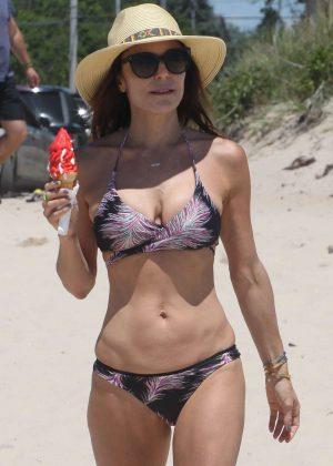 Bethenny Frankel in Bikini at a beach in New York