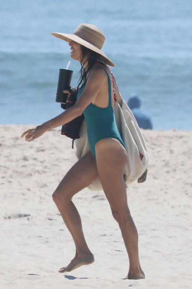 Bethenny Frankel - In green bikini in The Hamptons