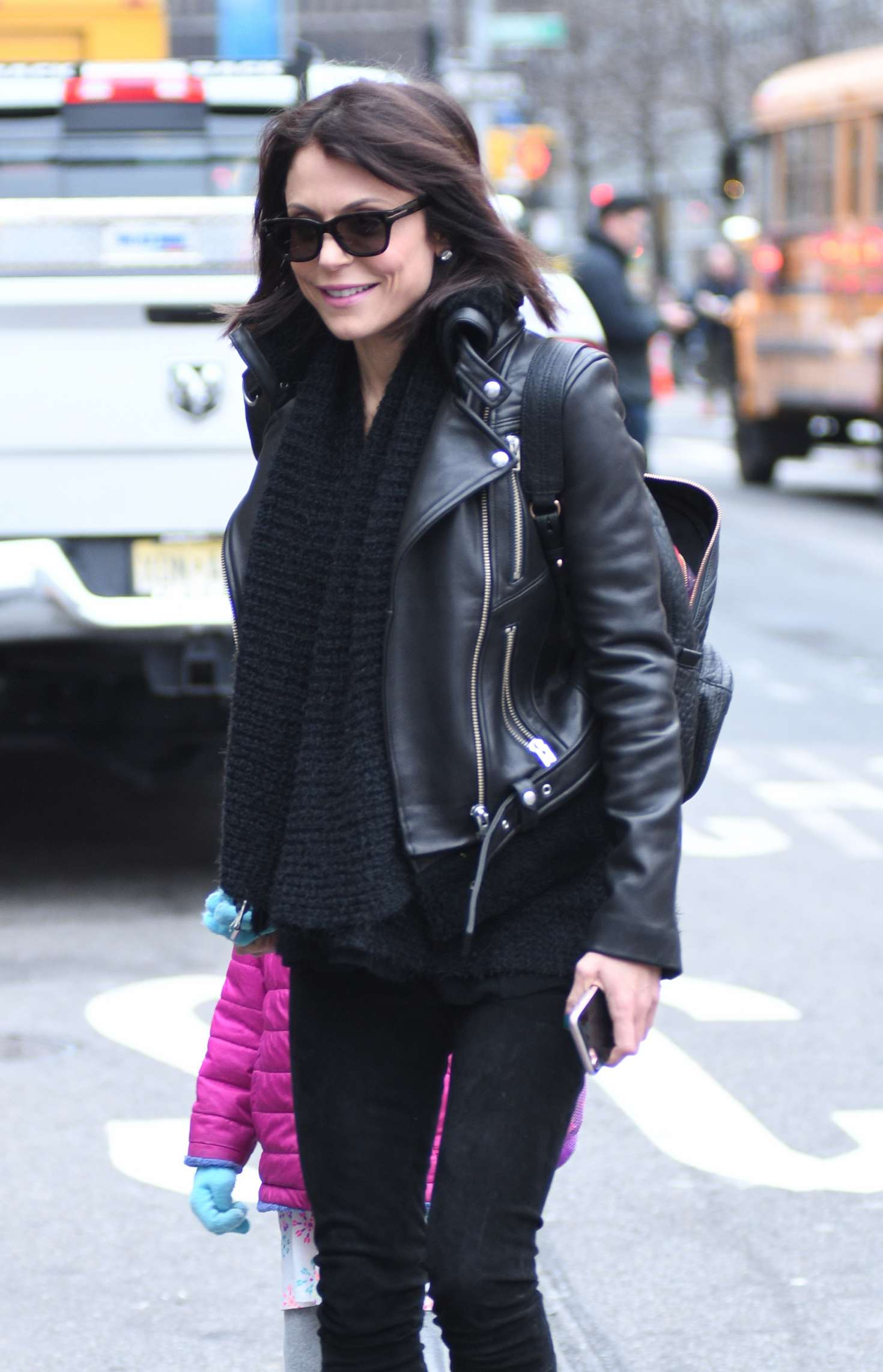 Bethenny Frankel in Leather Jacket out in New York – GotCeleb