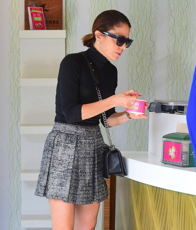 Bethenny Frankel in Mini Skirt out in New York