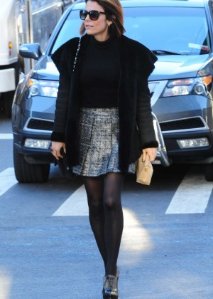 Bethenny Frankel in Mini Skirt out in NYC