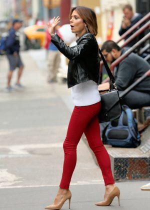 Bethenny Frankel in Red Jeans out in New York City