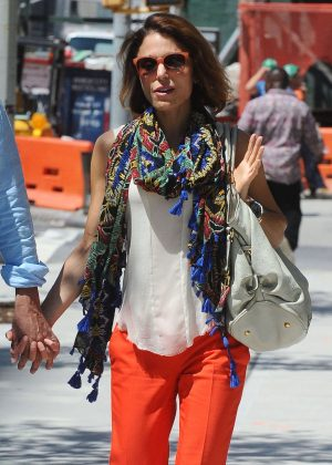 Bethenny Frankel in Red Pants out in New York