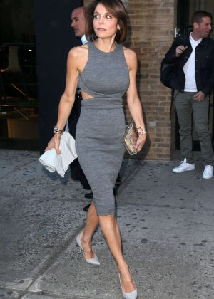 Bethenny Frankel in Tight Dress Out in NYC