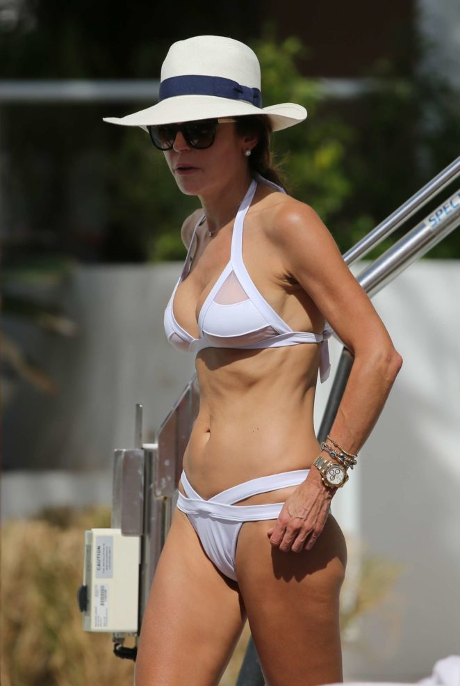 Bethenny Frankel in White Bikini in Miami Beach