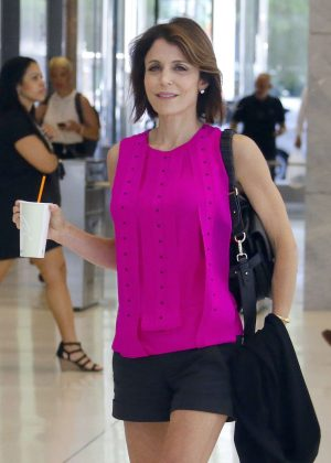 Bethenny Frankel Leaving 'Sirius Radio' Building in New York