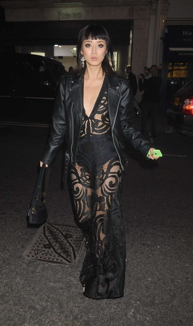 Betty Bachz at Philipp Plein Flagship Store Launch in London
