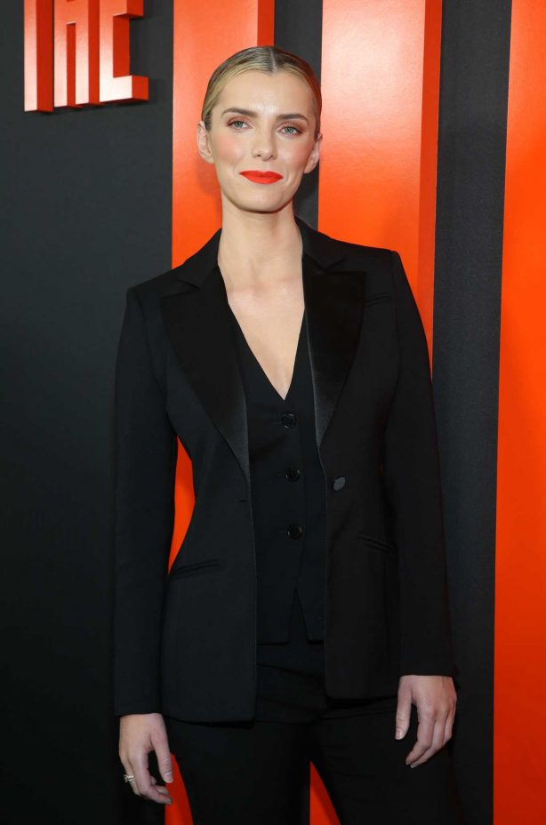 Betty Gilpin - All in black on 'The Hunt' premiere at ArcLight Hollywood