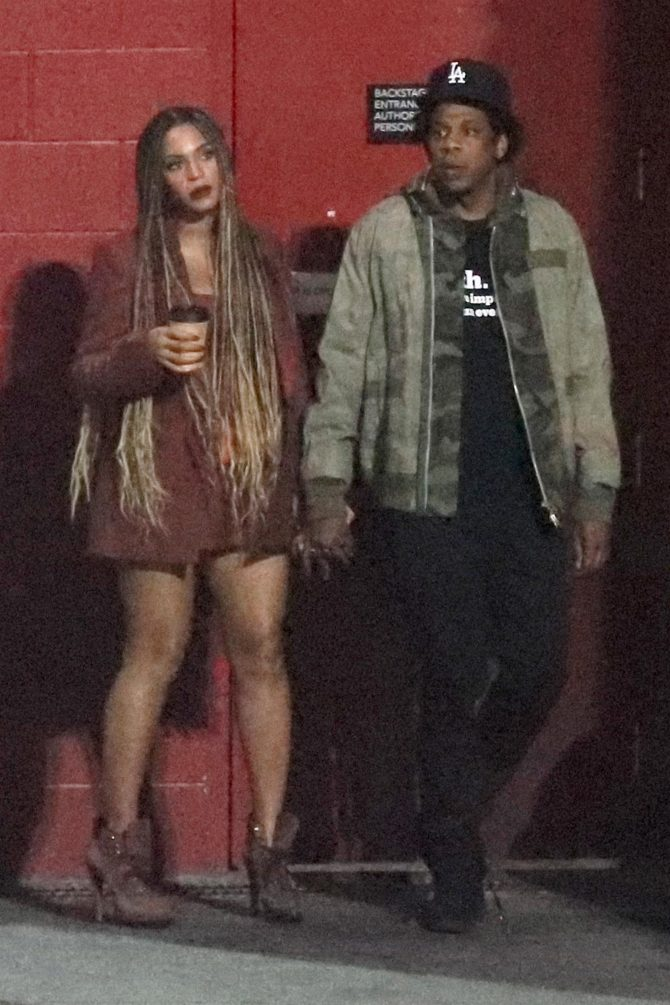 Beyonce and Jay-Z at the Travis Scott Concert in Los Angeles