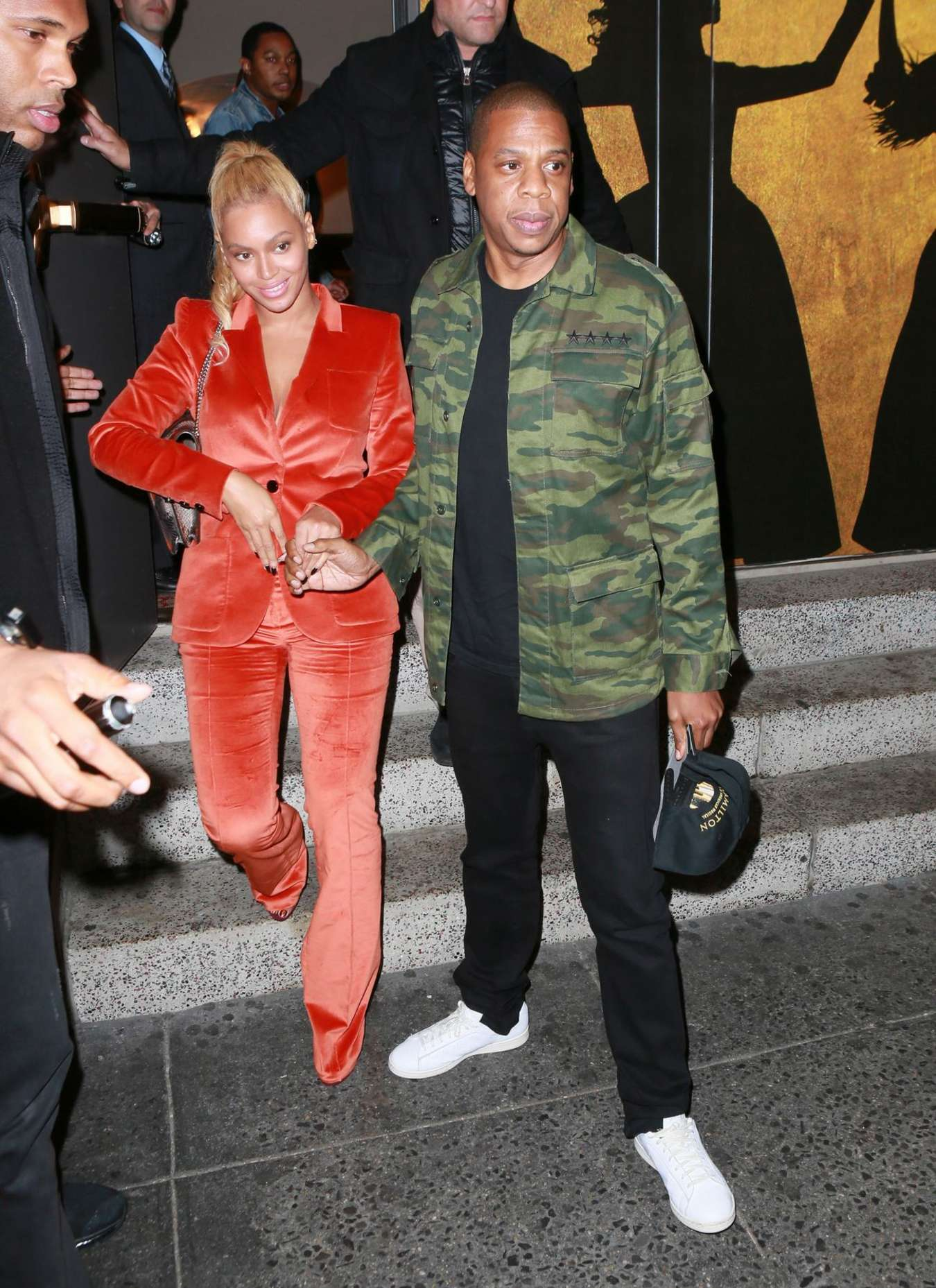 Beyonce and Jay-Z - Leaves Hamilton Musical on Broadway in NYC
