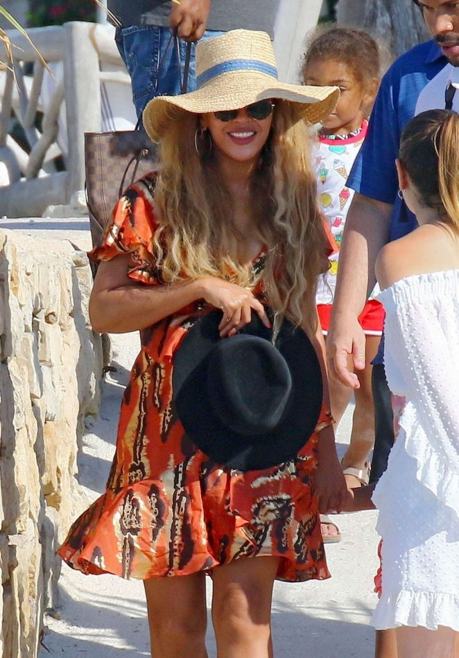Beyonce at Lerins Islands in Cannes