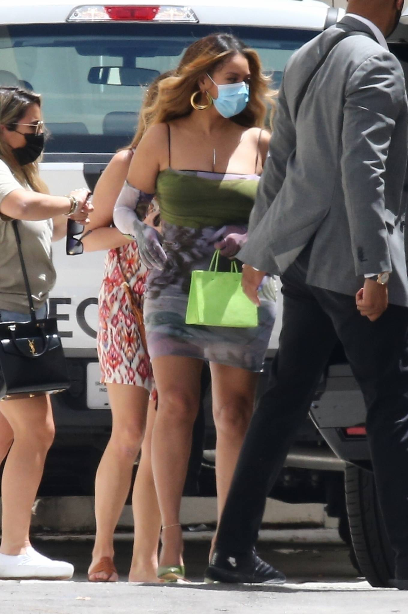 Beyonce 2021 : Beyonce – Out in body-hugging dress in Miami-04