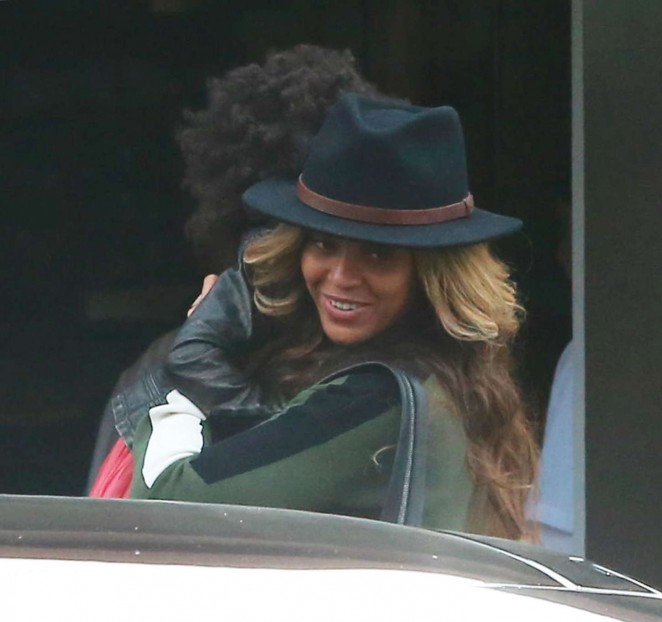 Beyonce with her Daughter Out in Miami