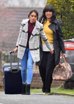 Bhavna Limbachia and Faye Brookes - Filiming 'Coronation Street' in Manchester