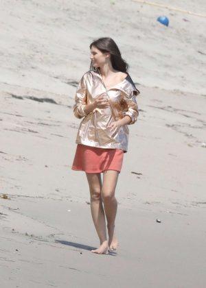 Bianca Balti on a Photoshoot in Malibu