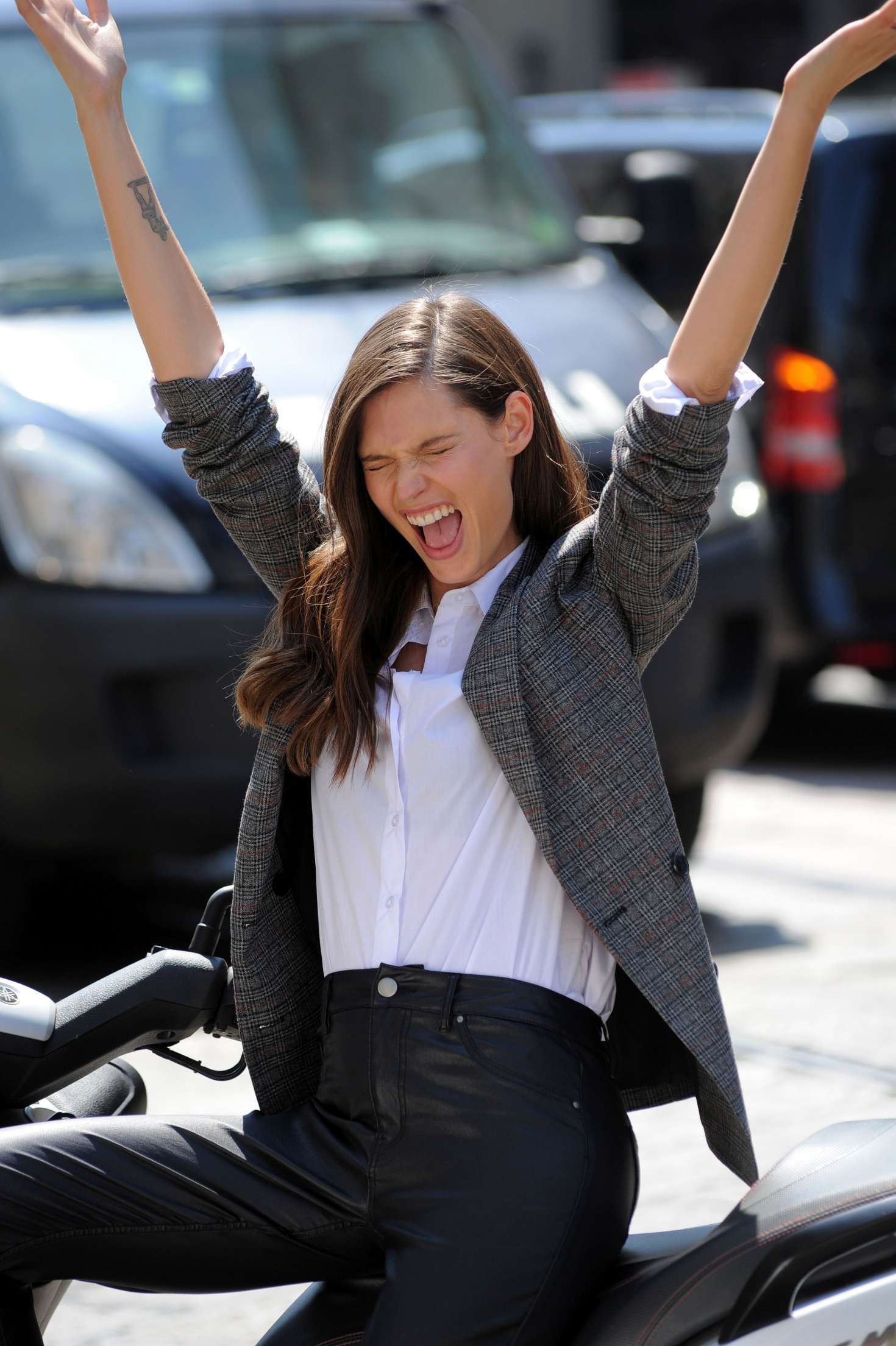 Bianca Balti on set for the OVS Campaign in Milan