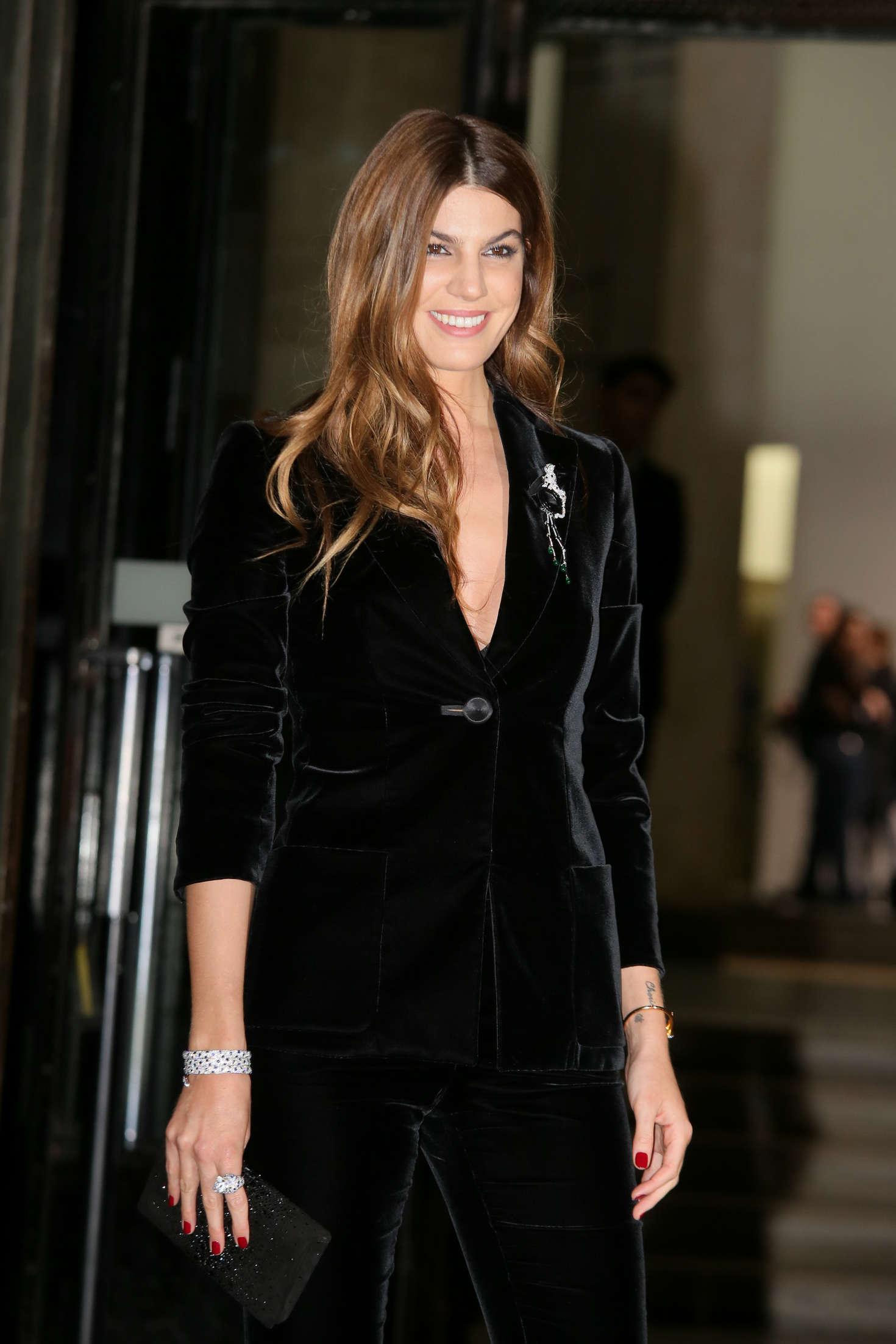 Bianca Brandolini Arrivals at Giorgio Armani Fashion Show Spring Summer 2016 in Paris