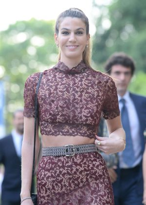 Bianca Brandolini D'adda at Jessica Chastain and Gian Luca Passi Wedding in Italy