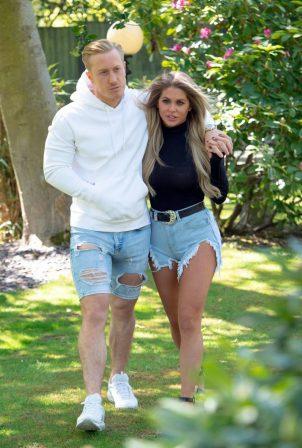 Bianca Gascoigne and Kris Boyson - Seen in their local park in Gravesend