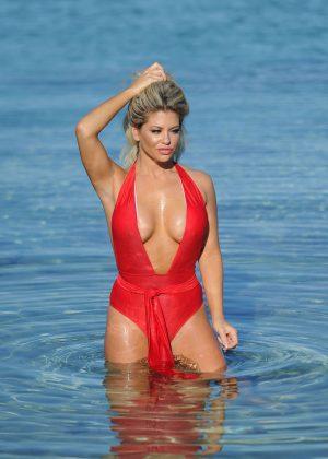 Bianca Gascoigne - Bikini candids in Greece