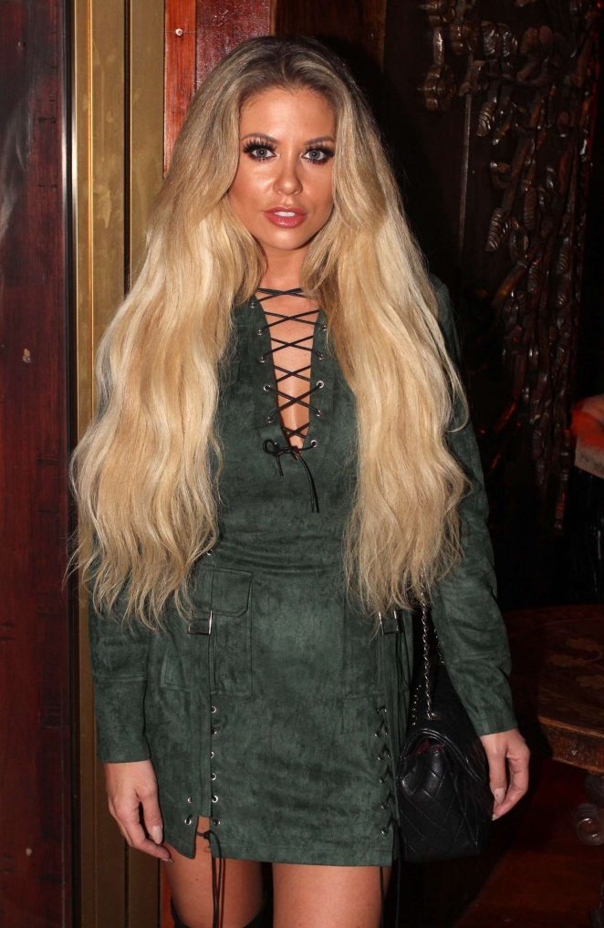 Bianca Gascoigne - Frankie Essex Fitness DVD Launch Party in London