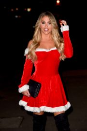 Bianca Gascoigne - Heads to a Christmas Party in Essex