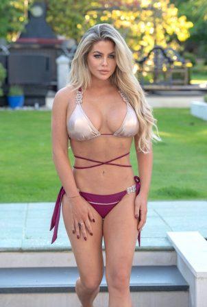 Bianca Gascoigne - In a bikini on vacation in Madeira