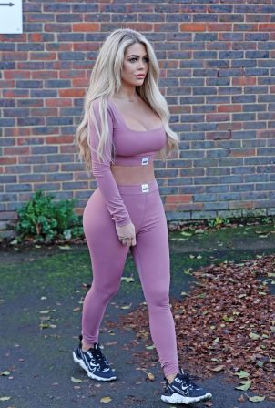 Bianca Gascoigne - In a purple in Kent