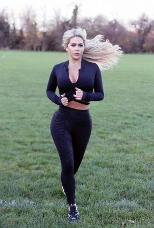 Bianca Gascoigne - Morning work out in Kent