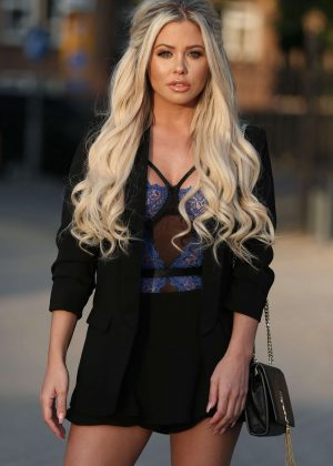 Bianca Gascoigne night out in London