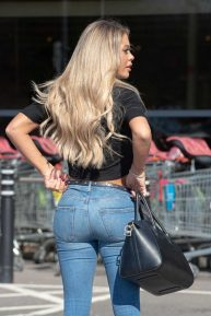 Bianca Gascoigne - Shopping candids at Sainsbury's supermarket in Kent