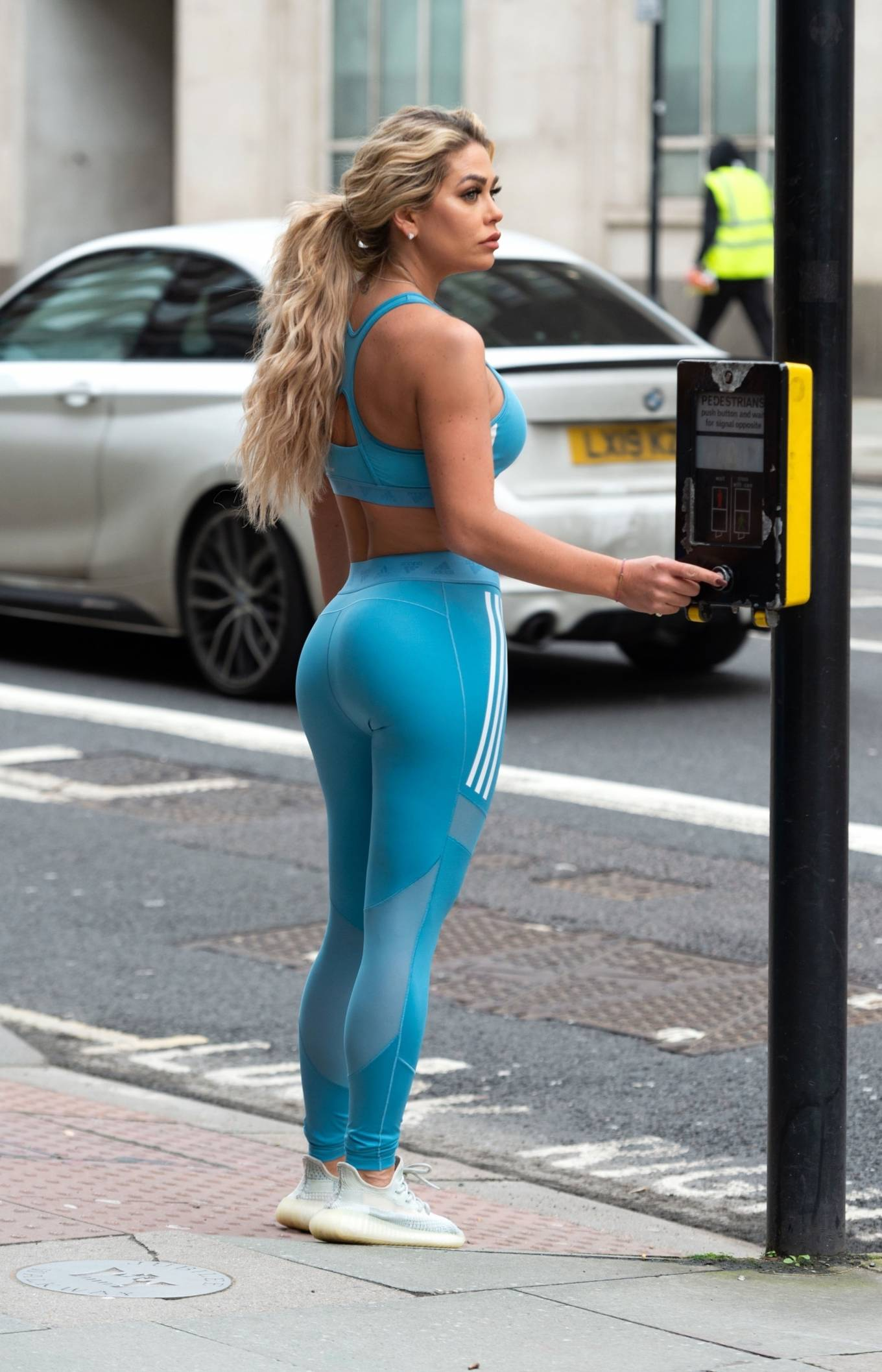 Bianca Gascoigne - Shows off her figure in London