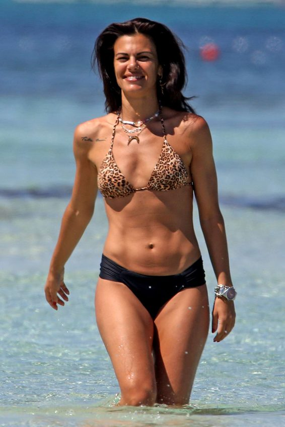 Bianca Guaccero in Bikini on the beach in Formentera