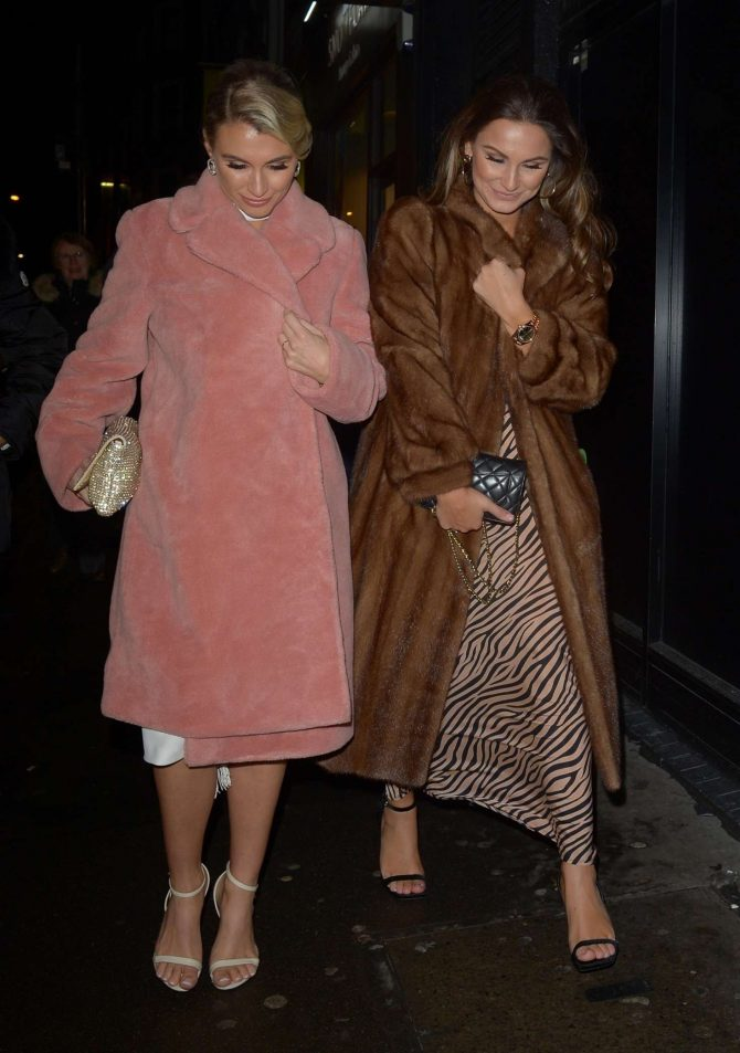Billie and Sam Faiers - Arriving at 100 Wardour in London