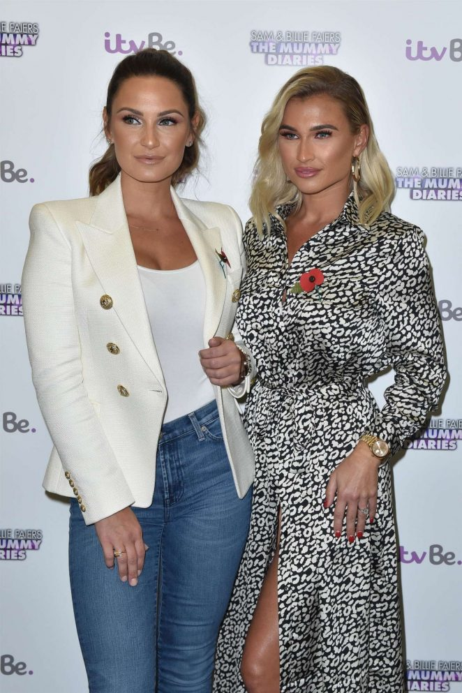 Billie and Sam Faiers – 'The Mummy Diaries' TV show photocall in London