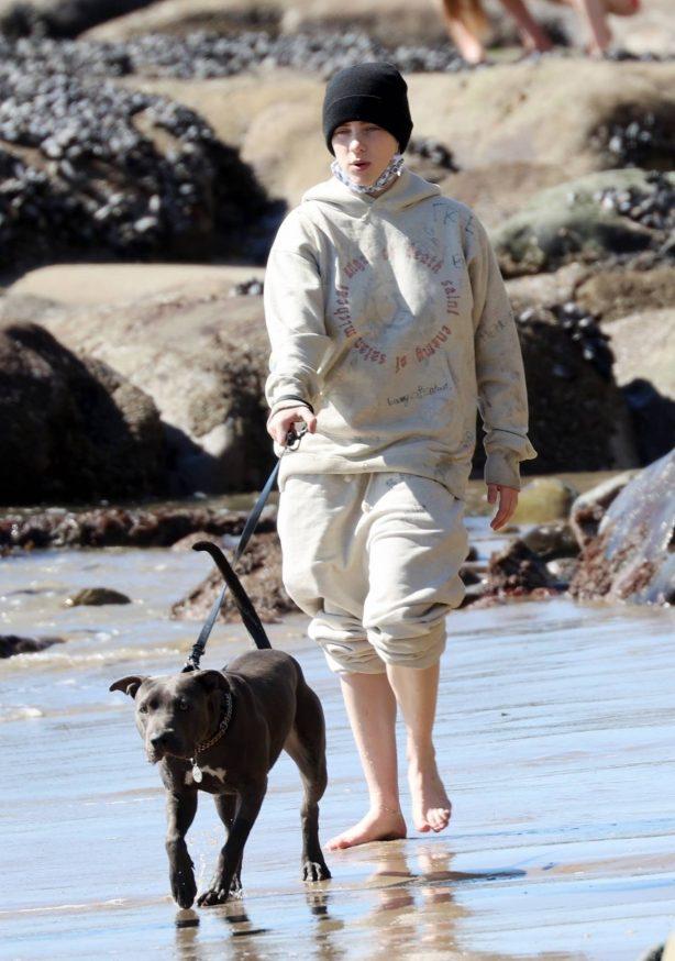 Billie Eilish - Seen out on the beach in Malibu