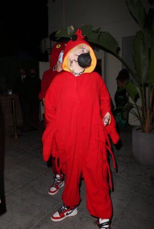 Billie Eilish - Seenleaving Doja Cat's birthday party in West Hollywood