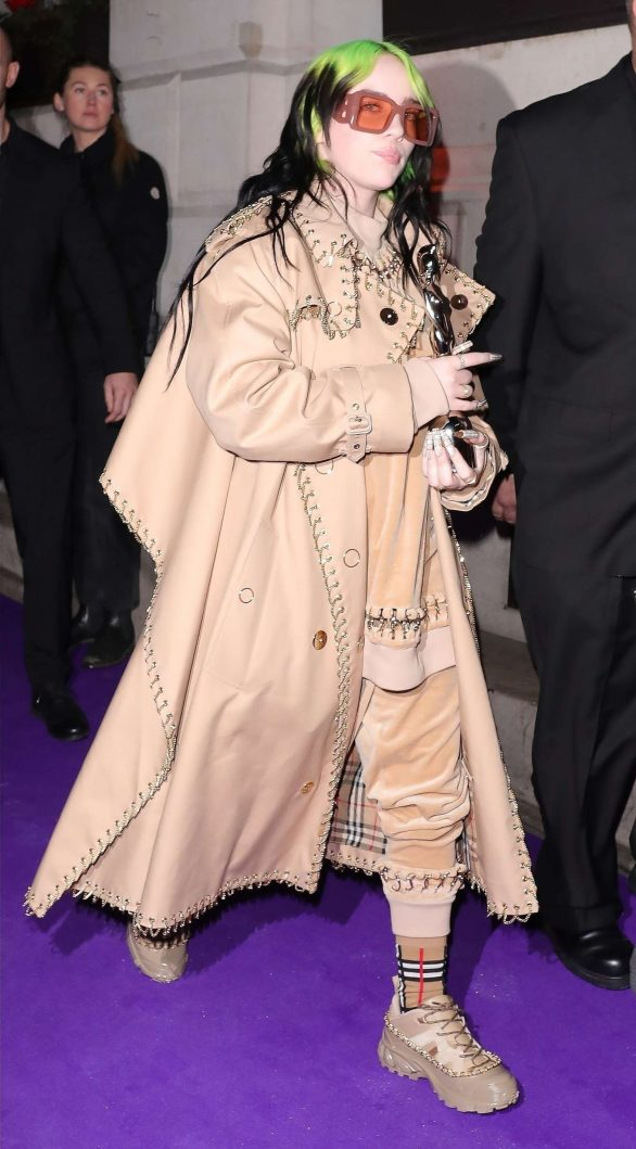 Billie Eilish - Spotted at 2020 BRIT Awards after-party at the Ned Hotel in London