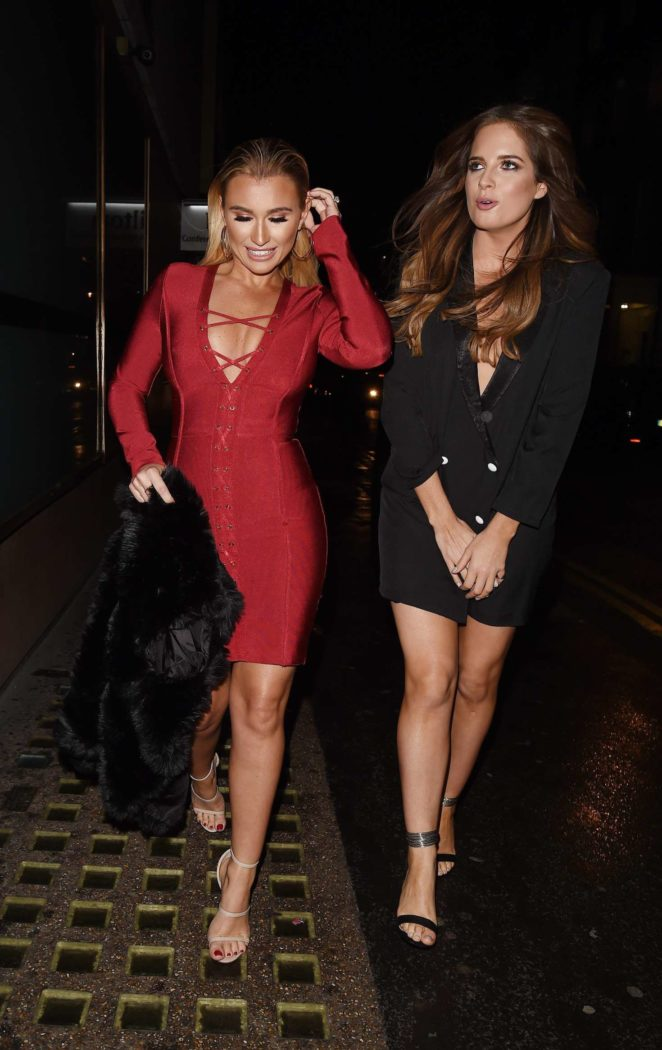 Billie Faiers and Binky Felstead - Leaving In The Style Photoshoot in London