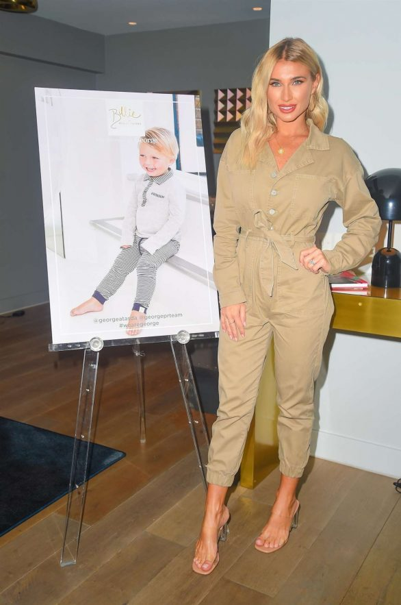 Billie Faiers - Arrives to launch her new AW19 babywear collection with George in London