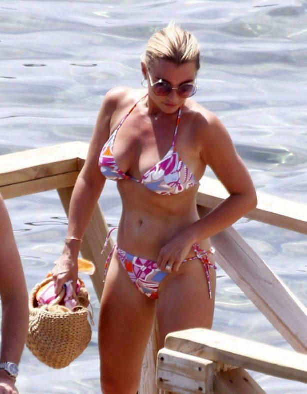 Billie Faiers in Bikini on holiday in Ibiza