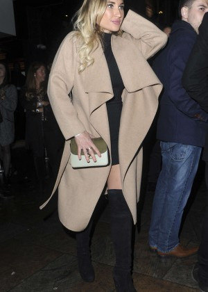 Billie Faiers - Leaving Cafe de Paris in London