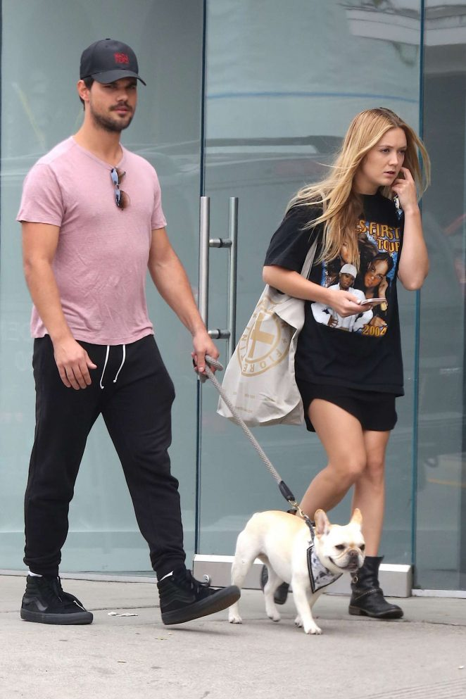 Billie Lourd and Taylor Lautner out in Venice