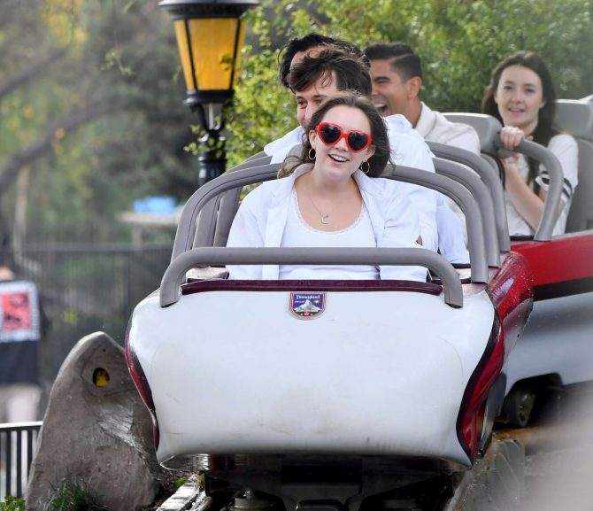 Billie Lourd at Disneyland in Anaheim