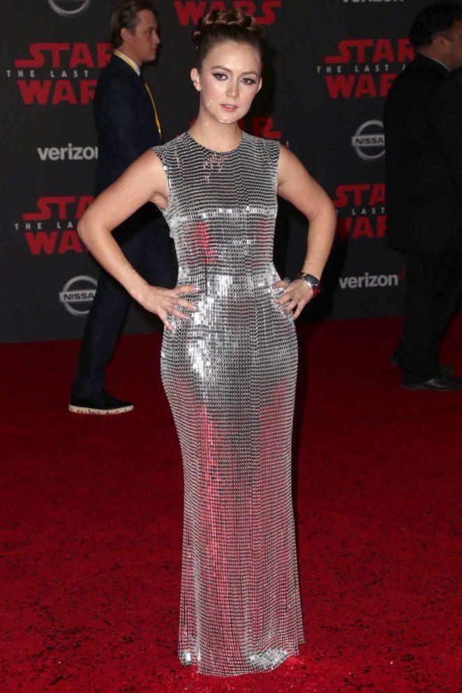 Billie Lourd - Star Wars: The Last Jedi premiere Red Carpet in Los Angeles