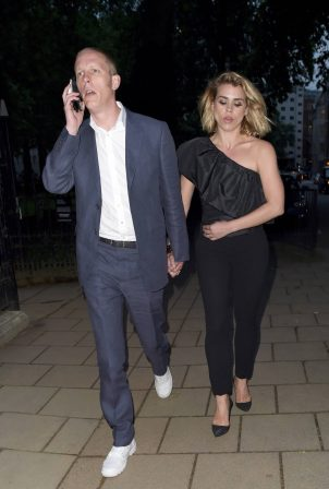 Billie Piper and Laurence Fox - Arriving late for the glamour awards in London