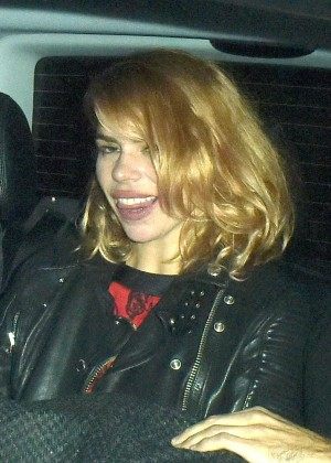 Billie Piper - Leaves at Chiltern Firehouse in London